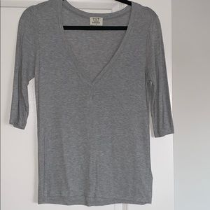 Project Social T Relaxed VNeck Quarter Sleeve
